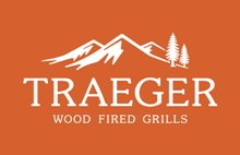 BF Logos Traeger Logo White on Orange Traeger WEB